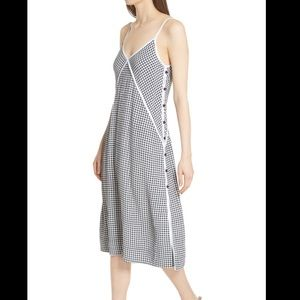 RAG & BONE Laurie Gingham Side Button Dress Small